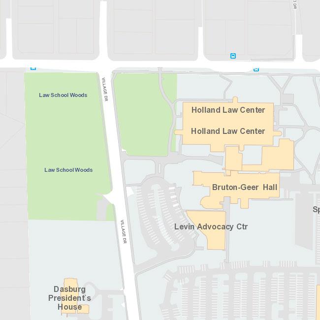 map of campus, close up