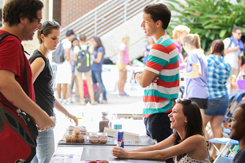 Photo of students interacting at student fair