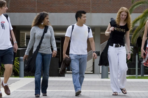 Photo of transfer students walking