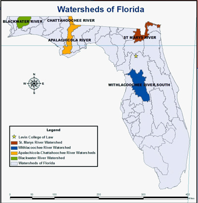 Florida Watershed Map.Watershed Law Policy And Planning Levin College Of Law Levin