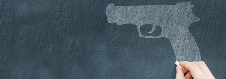 school gun violence banner