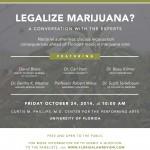 Legalize Marijuana lecture flier