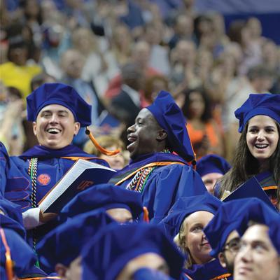 Photo of students at graduation