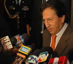President Alejandro Toledo at the 7th Annual Conference on Legal & Policy Issues in the Americas. Lima, Peru.